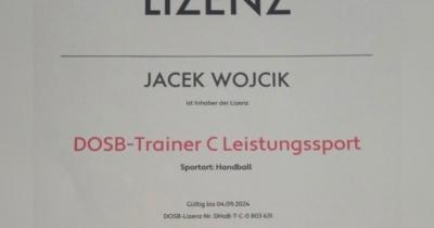 Jacek Wojcik erhält C-Trainerlizenz